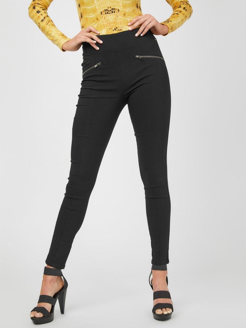 Braelyn Double-Zip Skinny Knit Pants