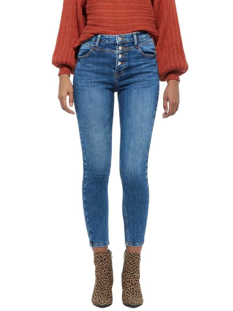Vanna High-Rise Button Fly Skinny Jeans
