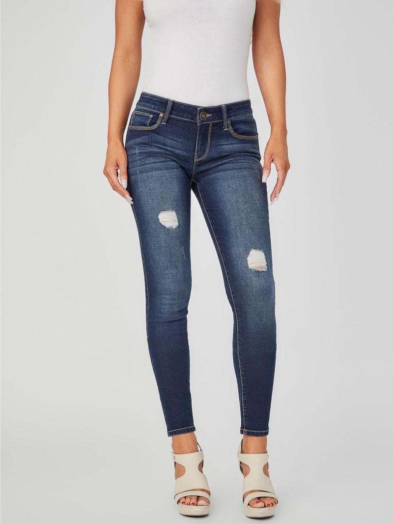 Sienna Distressed Curvy Skinny Jeans