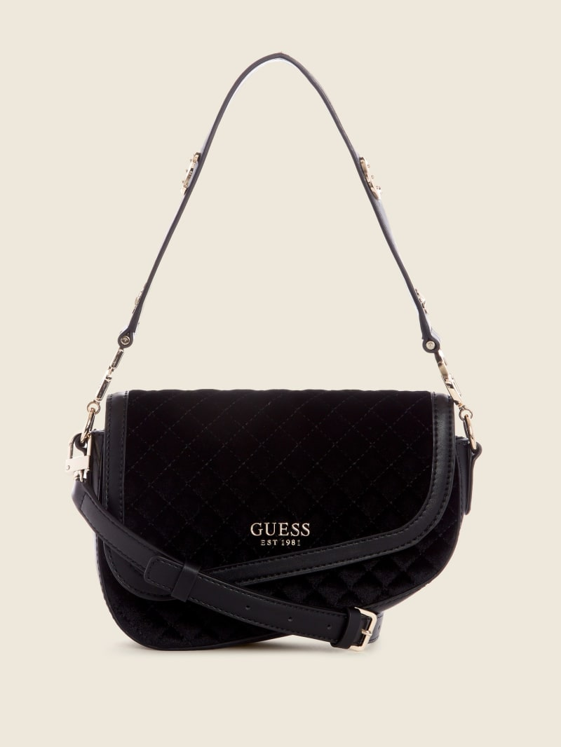 G-Dream Velvet Flap Shoulder Bag