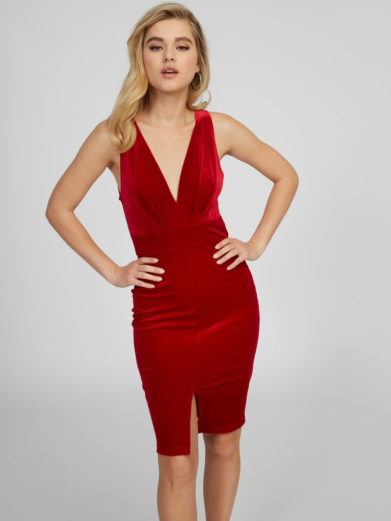 Aven Velvet Midi Dress