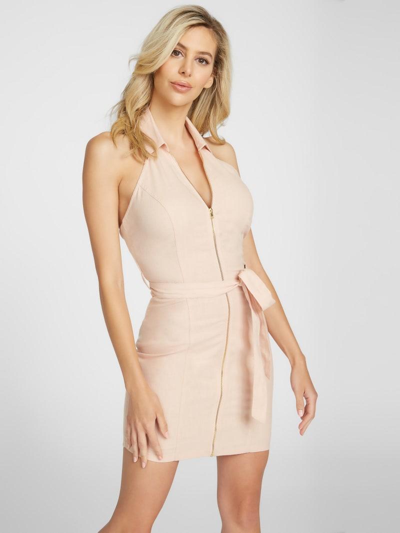Peri Collared Halter Dress