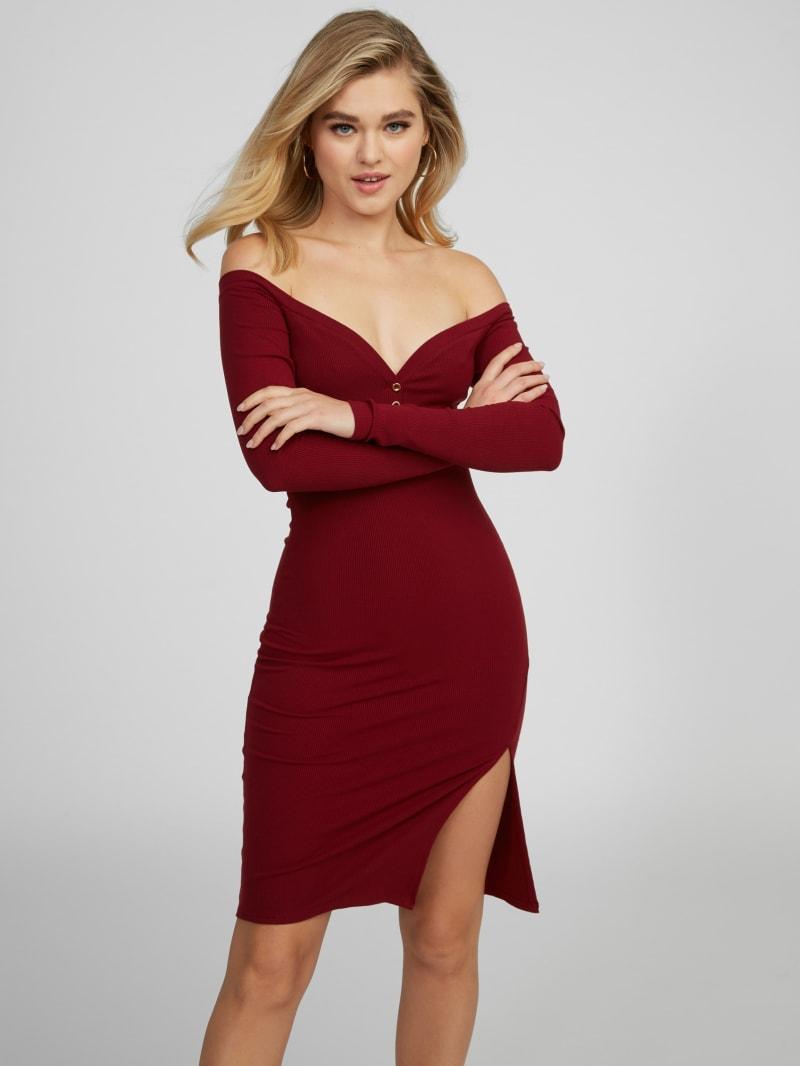 Evelyn Off Shoulder Midi Dress