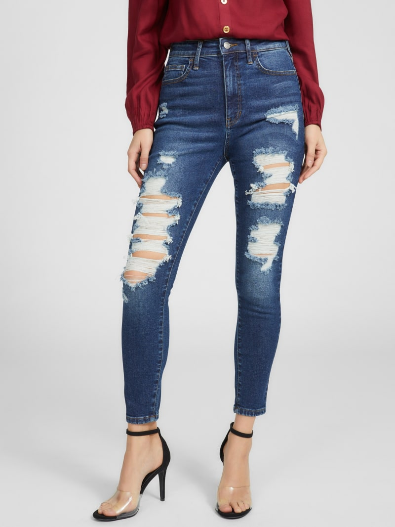 Marissa High-Rise Destroyed Skinny Jeans