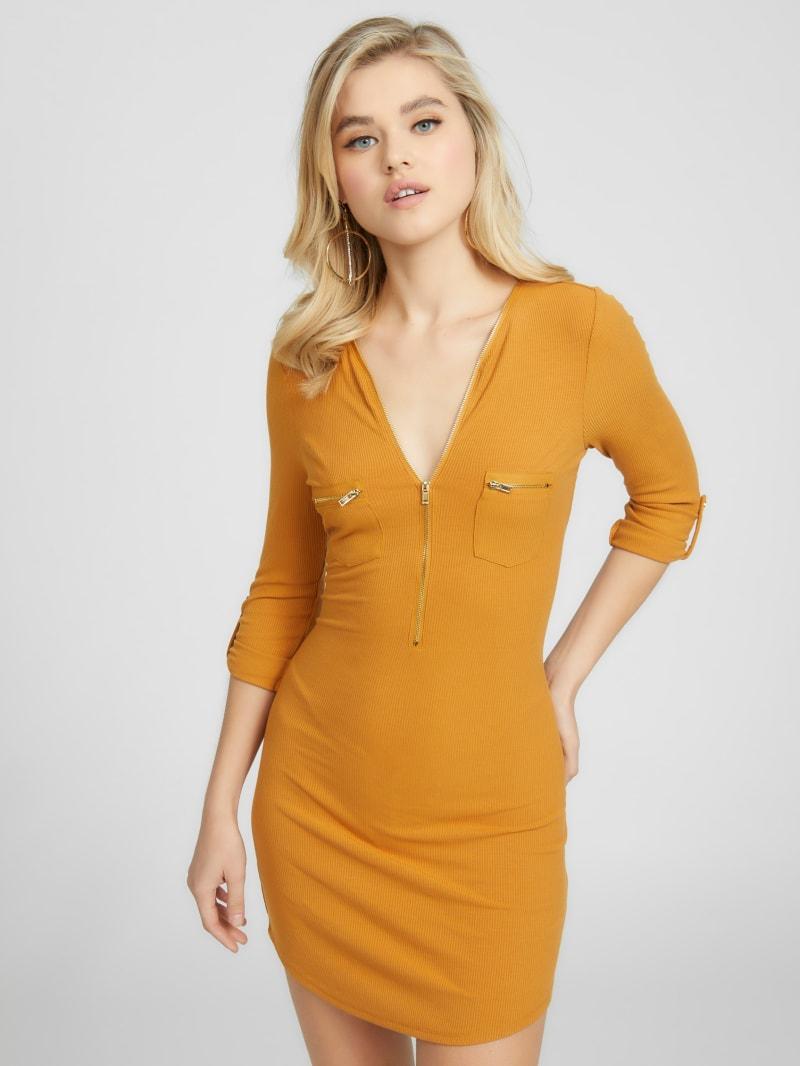 Febe Half Zip Ribbed Dress