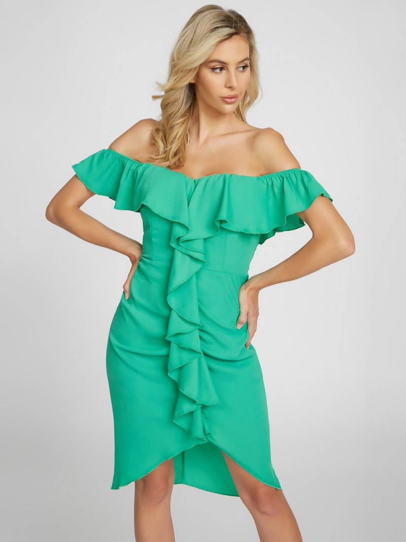 Janelle Off-Shoulder Ruffle Dress