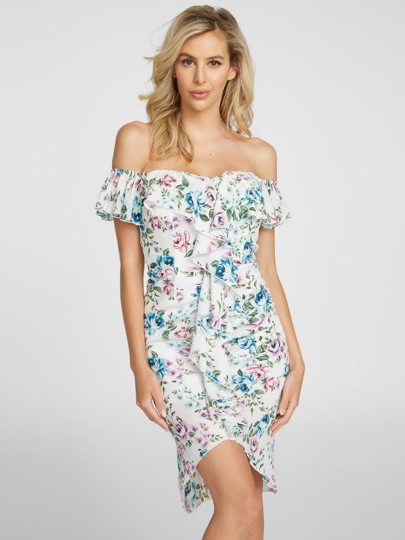 Janelle Off-Shoulder Ruffle Dress