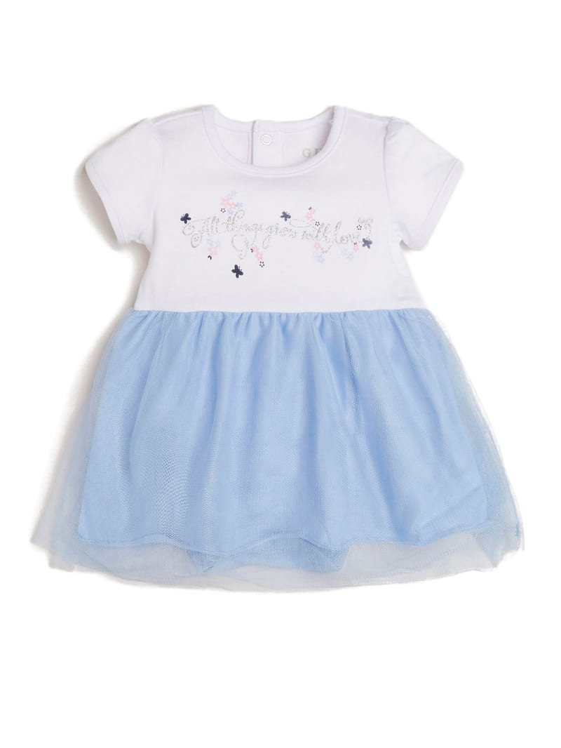Dress With Mesh Skirt (0-12M)