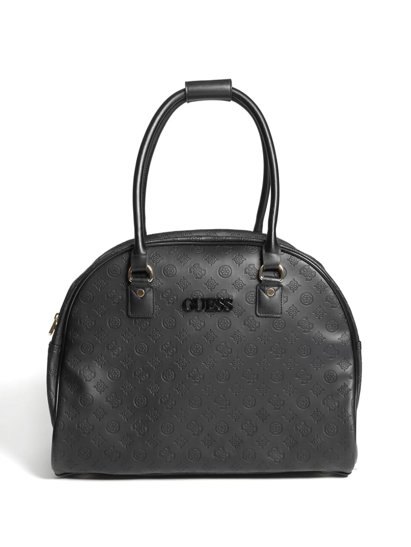 Janelle Debossed Peony Dome Tote