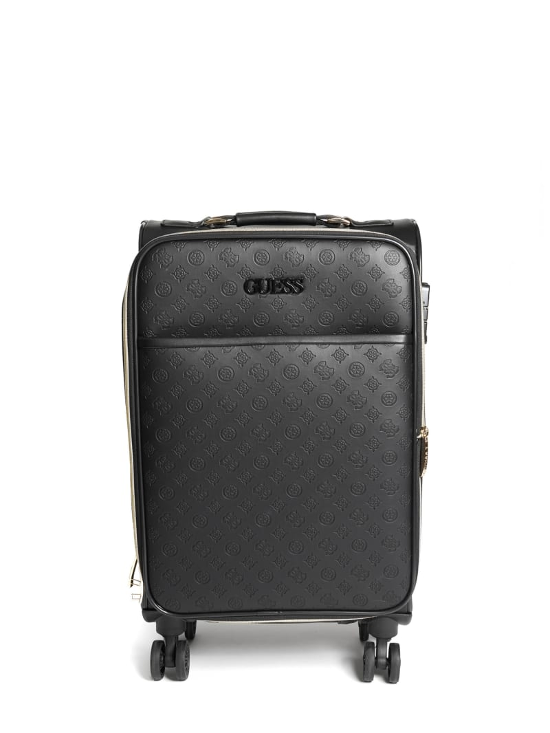 "Janelle 20"" Debossed Peony Roller Suitcase"