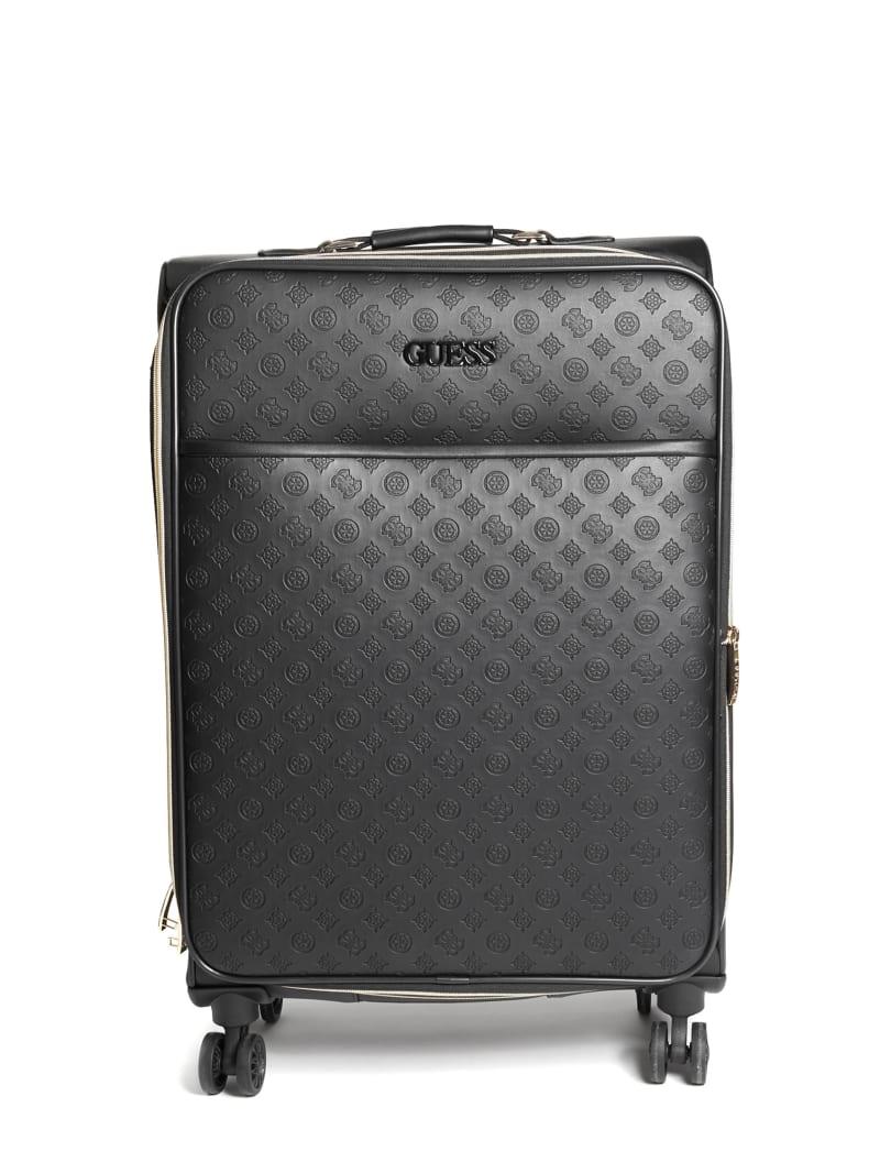 "Janelle 24"" Debossed Peony Roller Suitcase"
