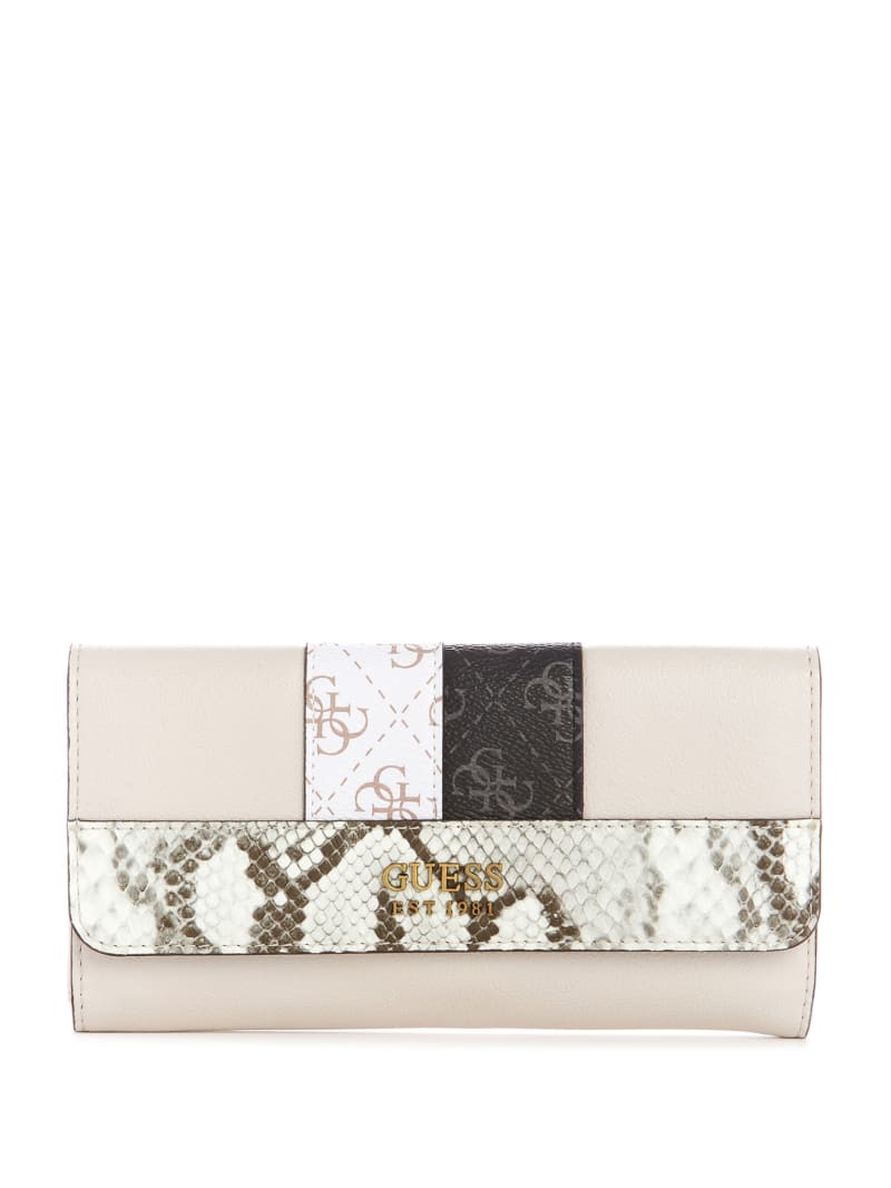 Katey Python Printed Clutch Wallet
