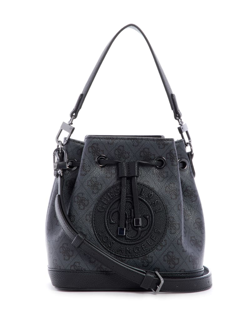 Nadia Logo Print Bucket Bag