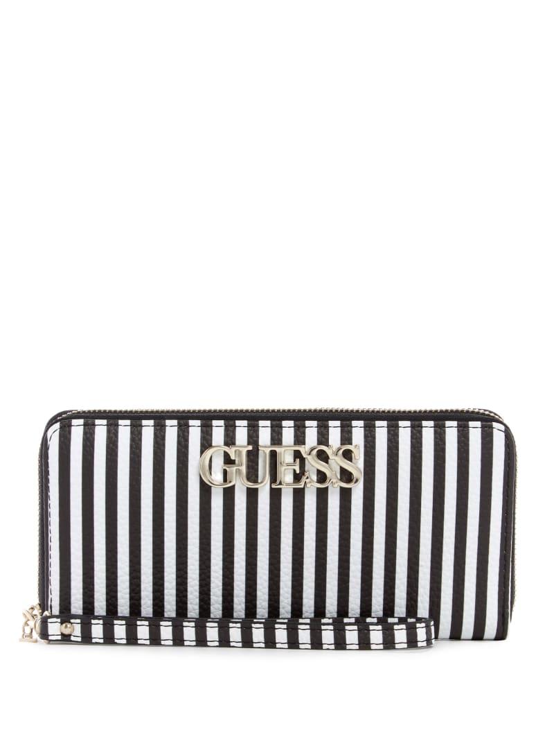 Uptown Chic Striped Zip-Around Wallet