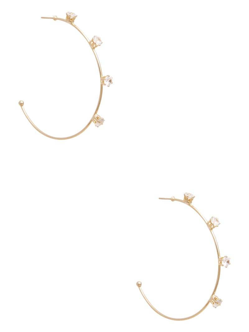 Skinny Rhinestone Hoop Earring