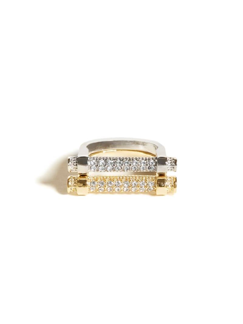 Pavé Bar Ring Set - Size 7