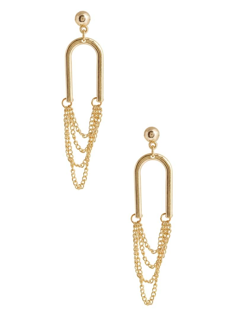 14KT Horseshoe Chain Earring