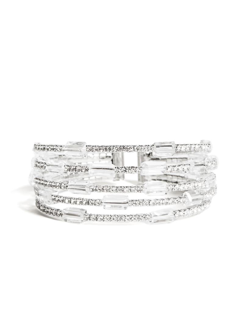 Baguette Rhinestone Flexi Cuff Bracelet
