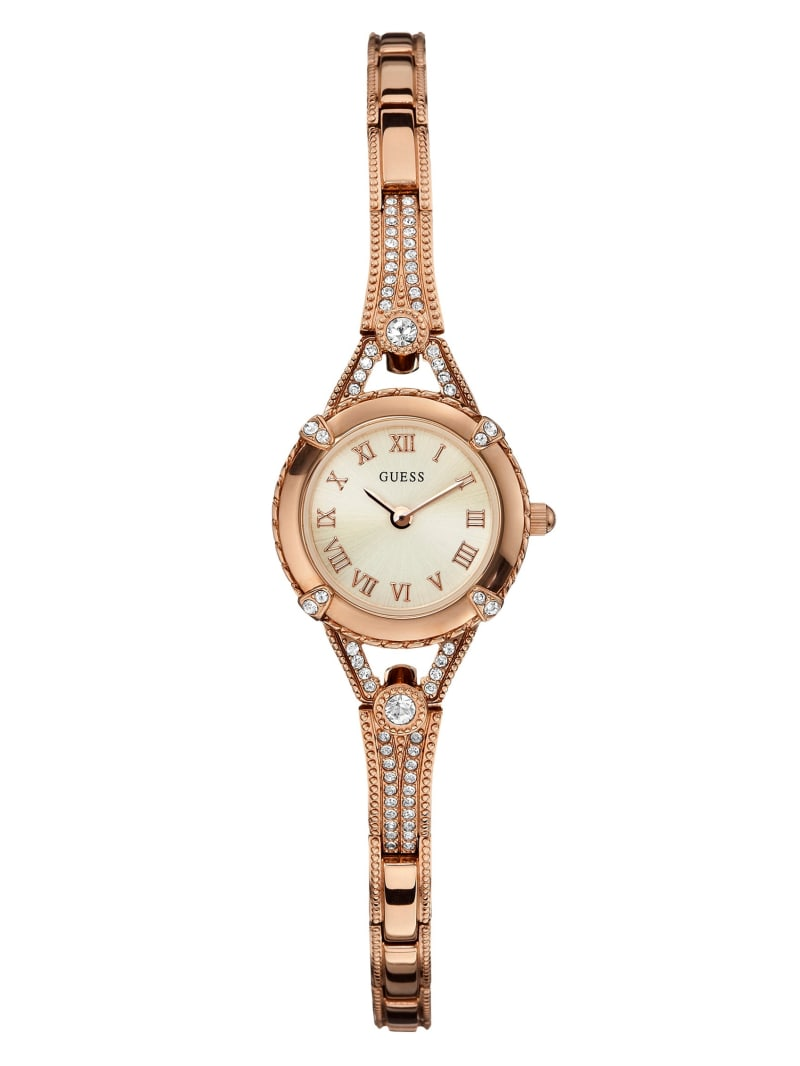 Rose Gold-Tone Petite Crystal Watch