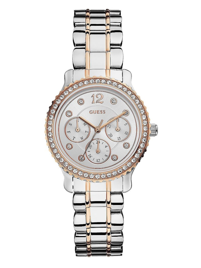 Silver and Rose Gold-Tone Petite Multifunction Watch