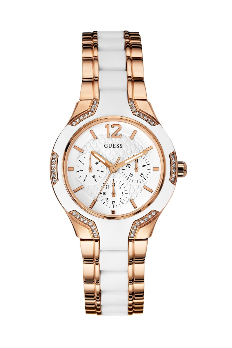 Rose Gold-Tone and White Watch