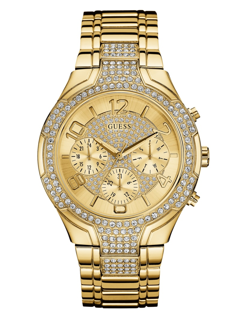 Gold-Tone Sport Multifunction Watch