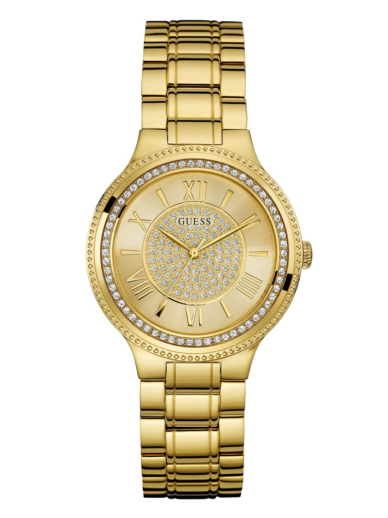 Gold-Tone Stainless Steal Analog Watch
