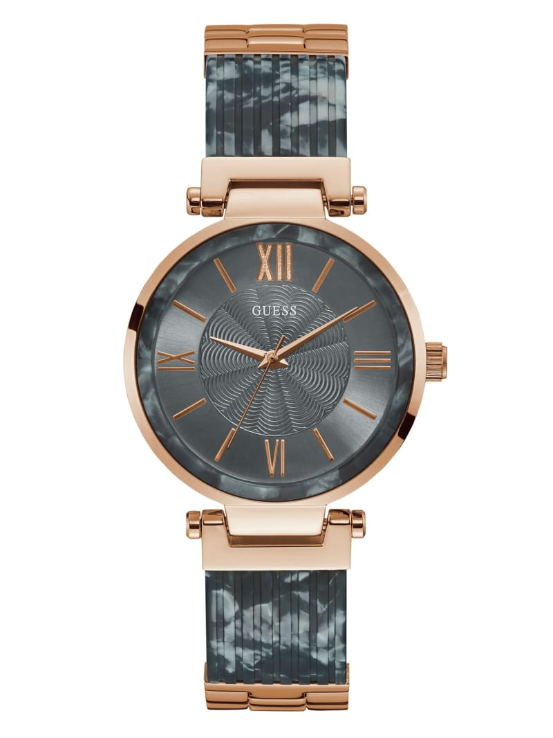 Rose Gold-Tone And Grey Analog Watch