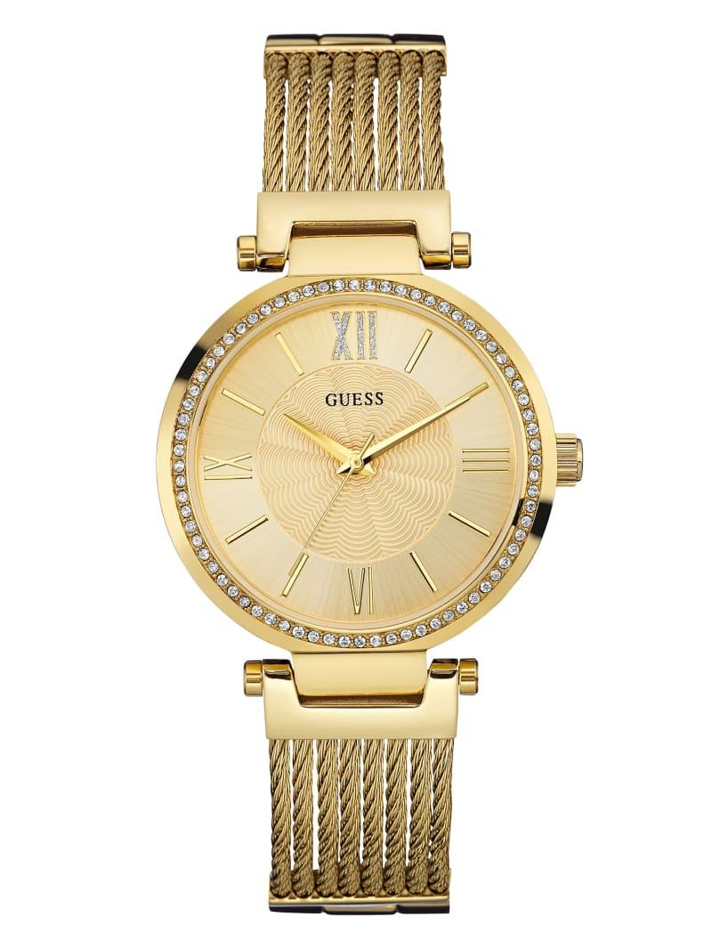 Gold-Tone Modern Woven Watch