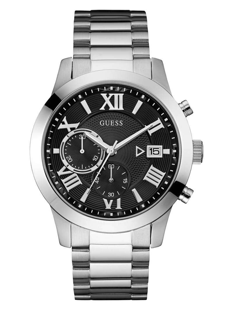 Silver-Tone Chronograph Watch