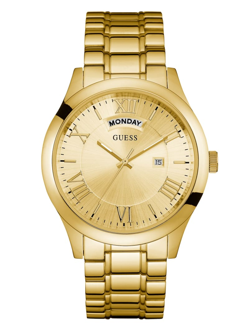Gold-Tone Classic Multifunction Watch