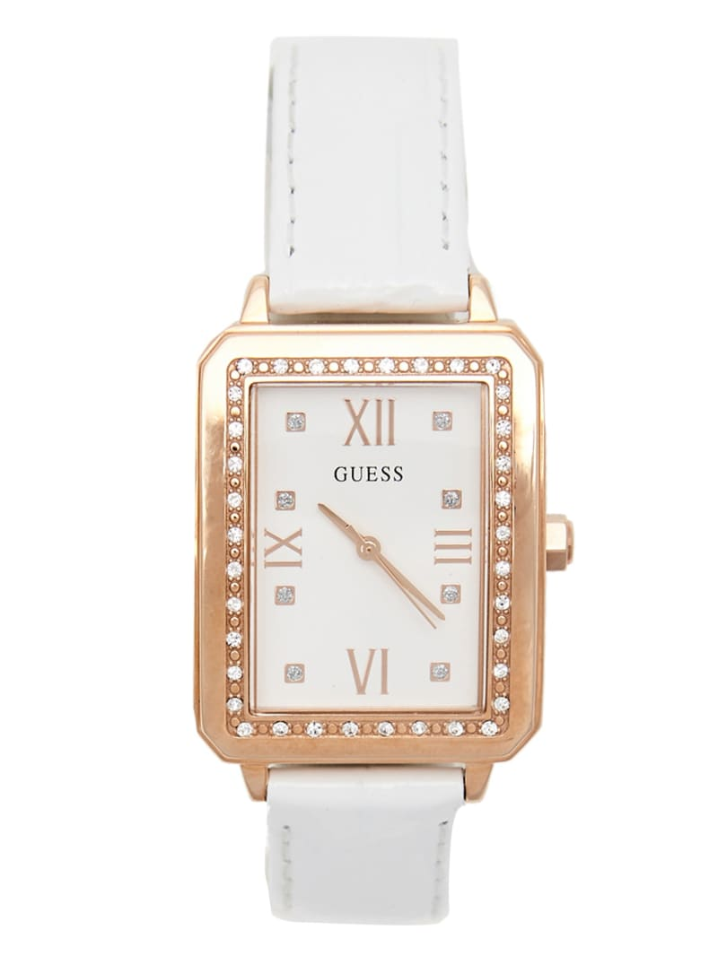 White and Rose Gold-Tone Analog Watch