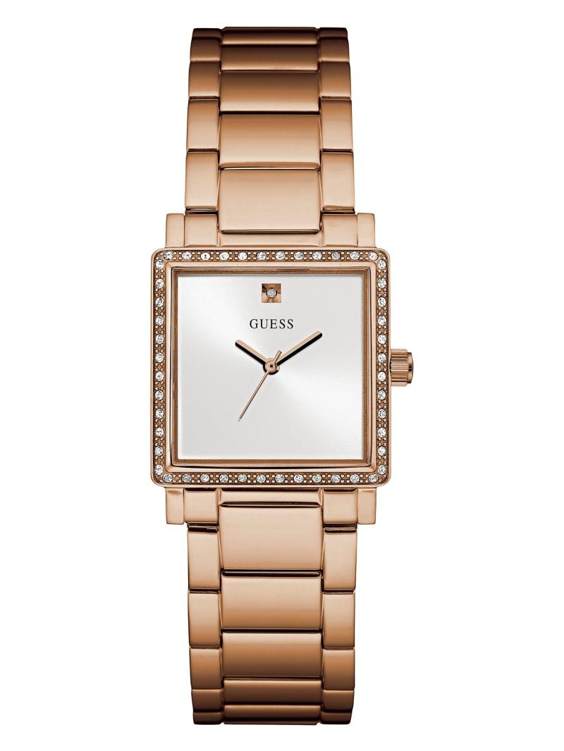 Rose Gold-Tone Square Analog Watch