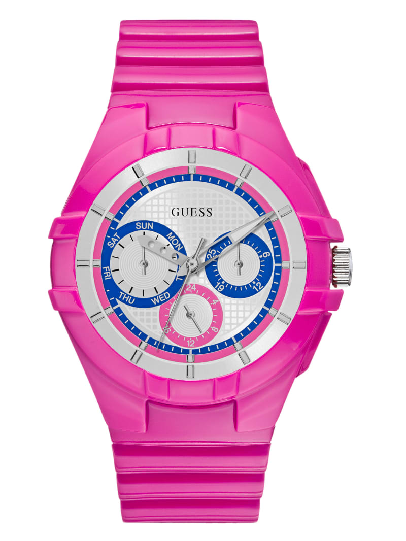 Pink Sport Multifunction Watch