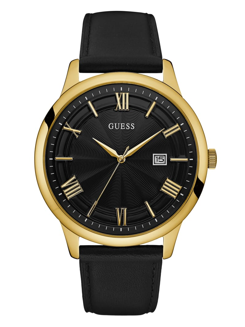 Black and Gold-Tone Oversized Watch