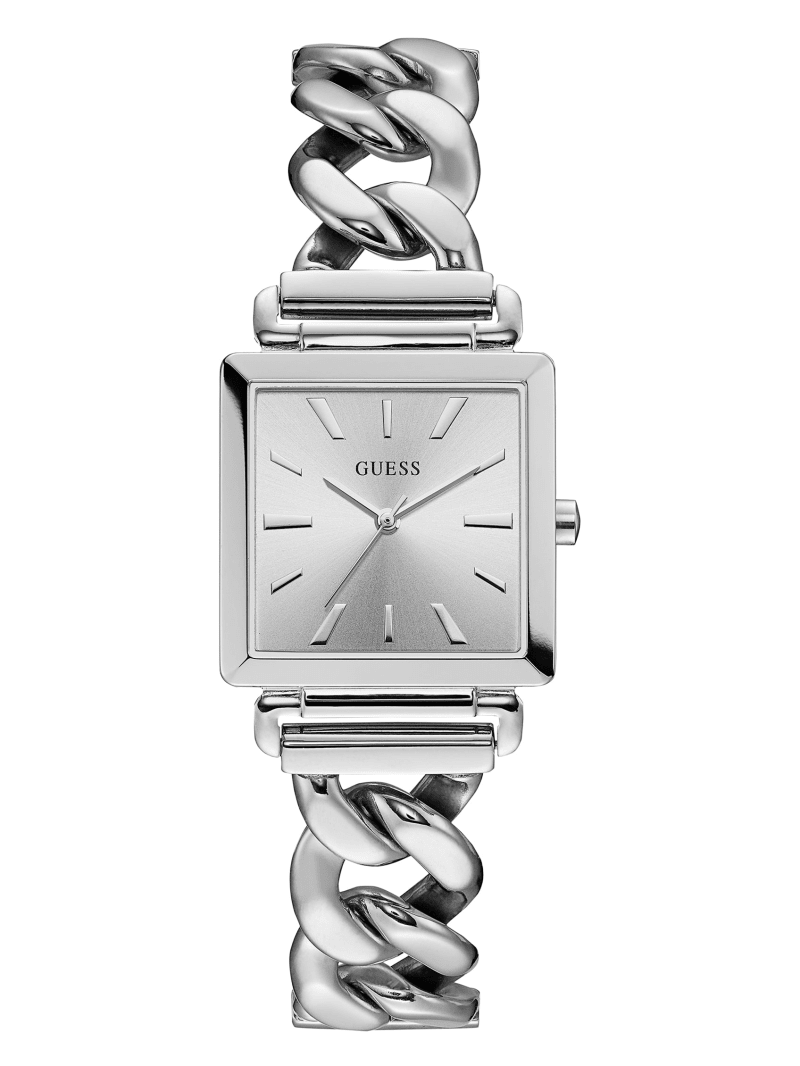 Square Silver-Tone Analog Watch