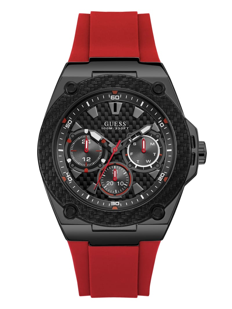 Red and Black Multifunction Watch