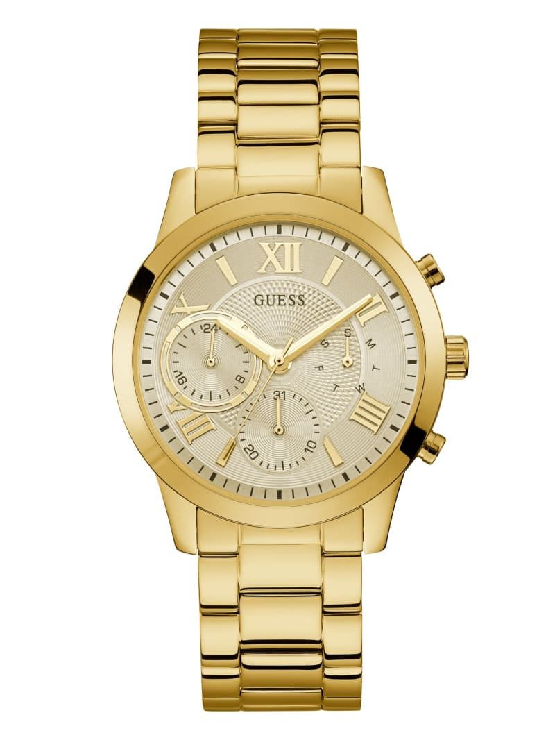 Gold-Tone Multifunction Watch