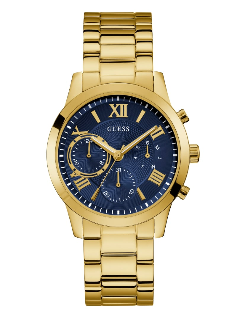 Navy and Gold-Tone Chronograph Watch
