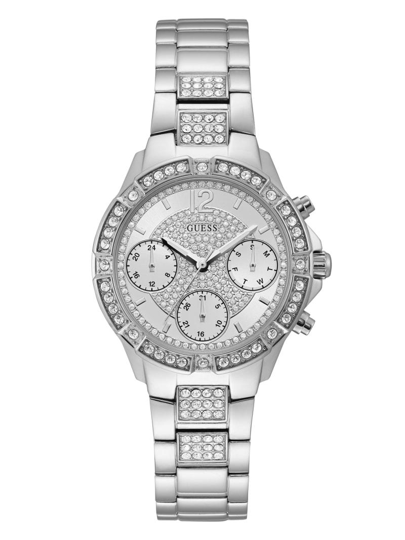 Silver-Tone Chronograph Sport Watch