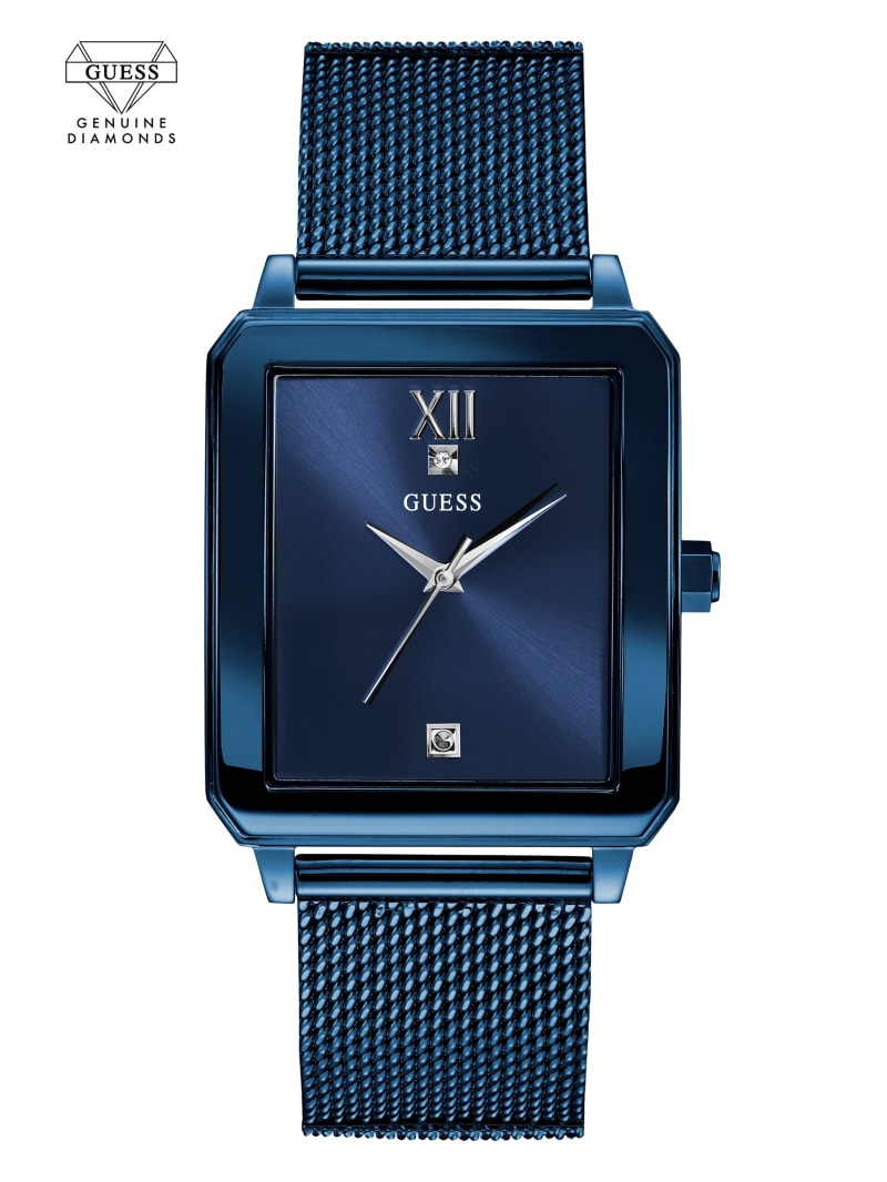 Blue Diamond Rectangular Watch