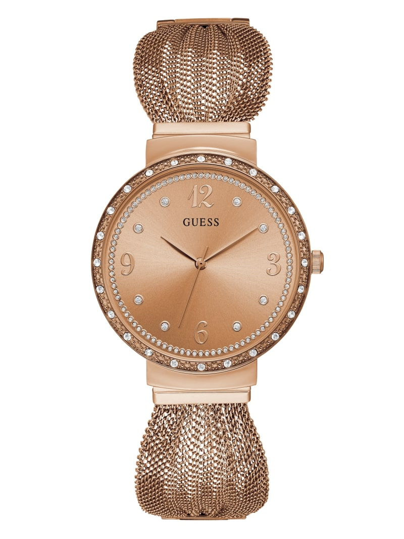 Rose Gold-Tone Mesh-Strap Watch