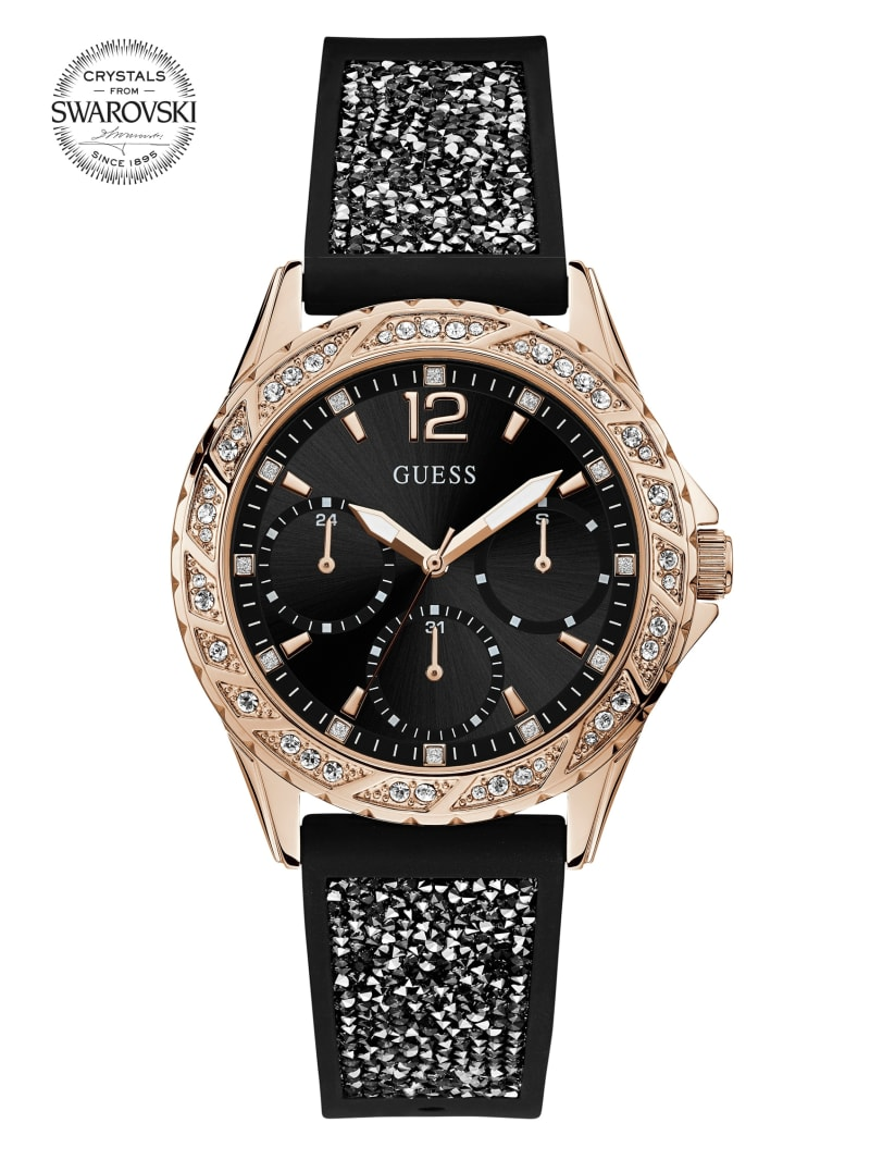 Rose Gold-Tone Sparkle Strap Watch