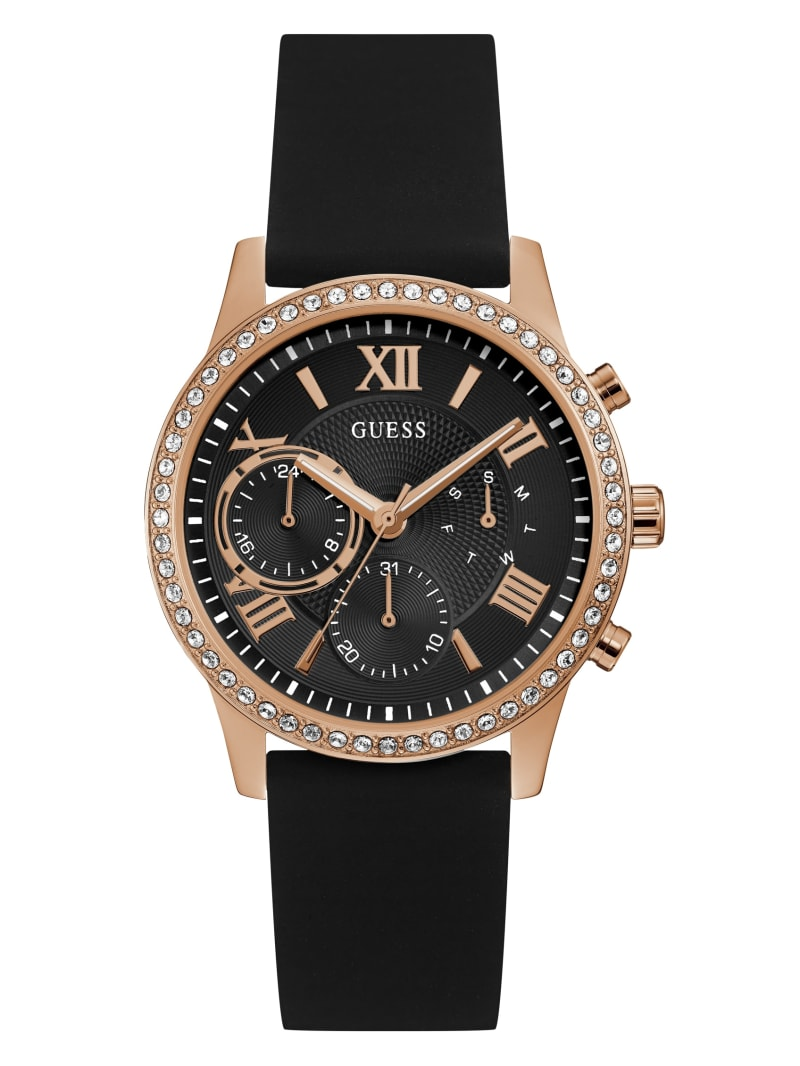 Rose Gold-Tone and Black Multifunction Watch