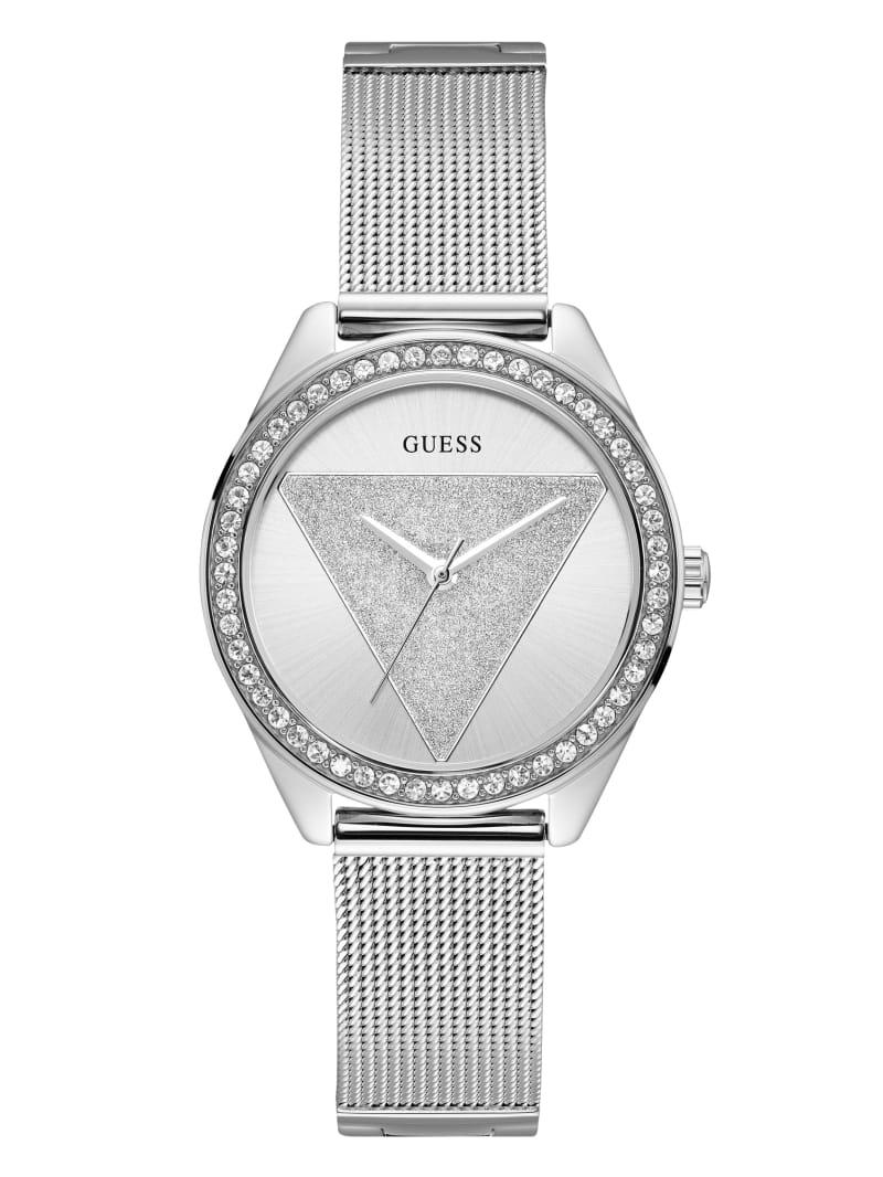 Silver-Tone Logo Analog Watch