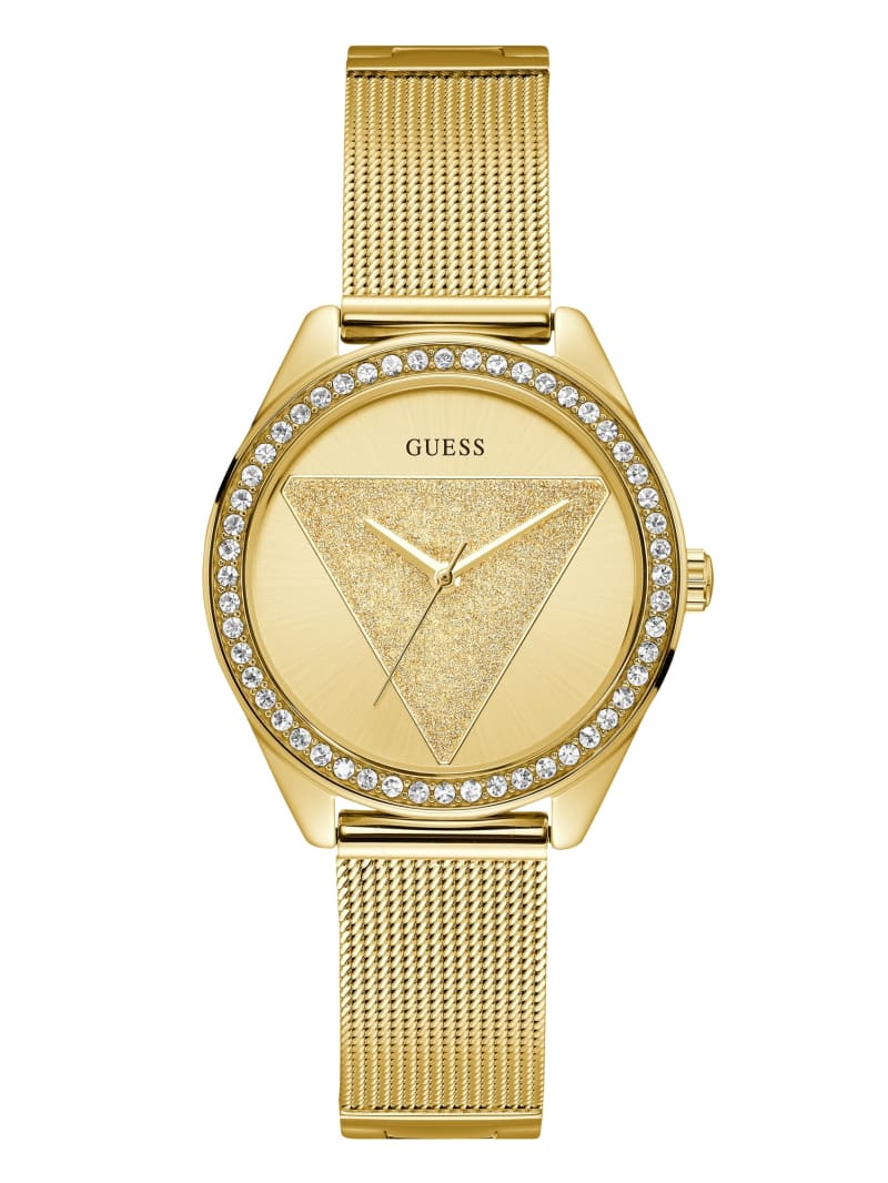 Gold-Tone Logo Analog Watch