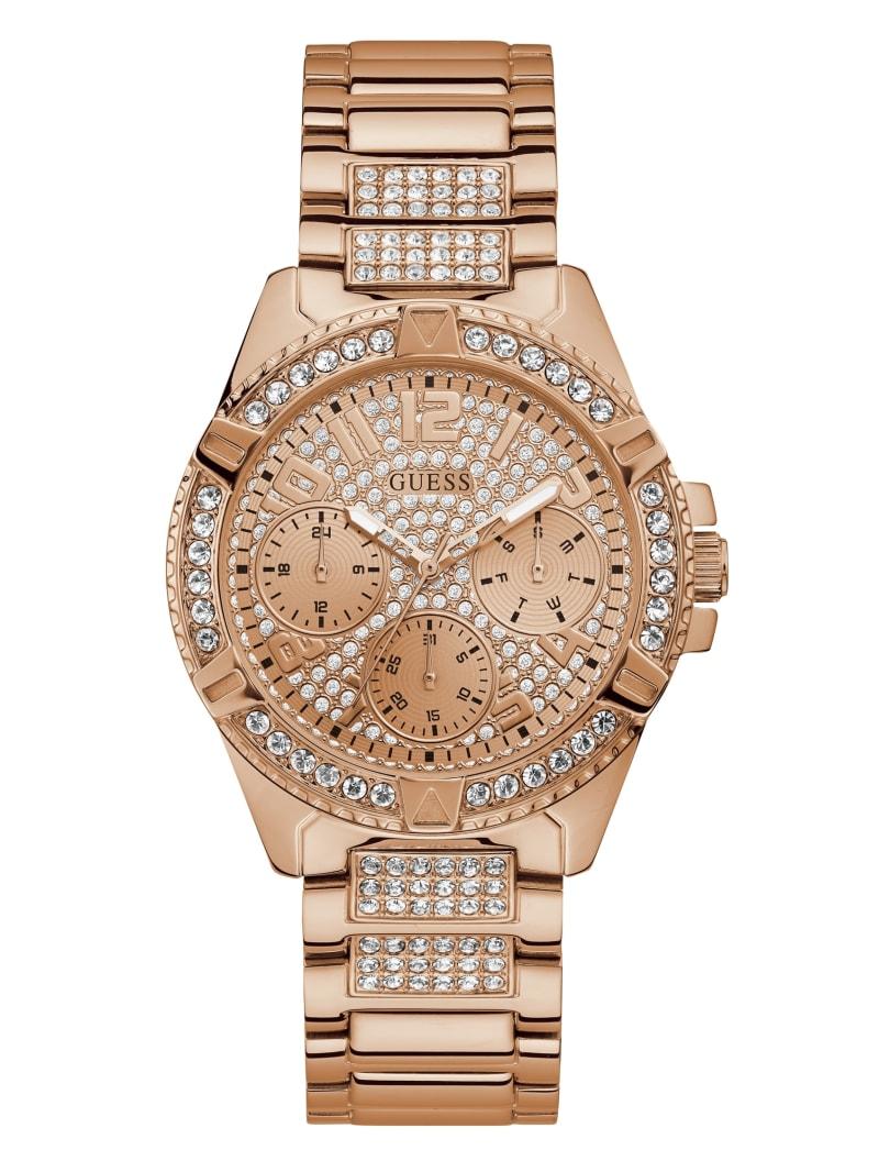 Rose Gold-Tone Multifunction Watch