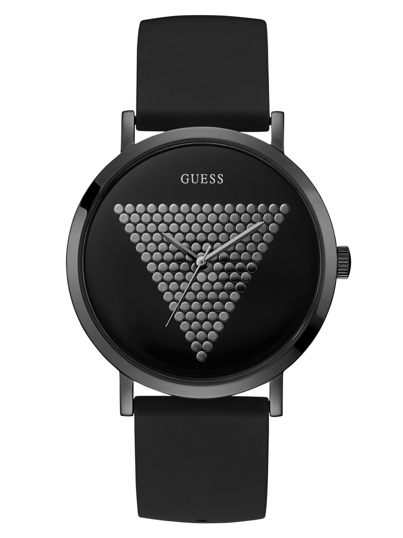 Black and Hematite-Tone Analog Watch