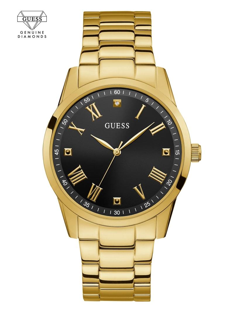 Gold-Tone Analog Diamond Watch