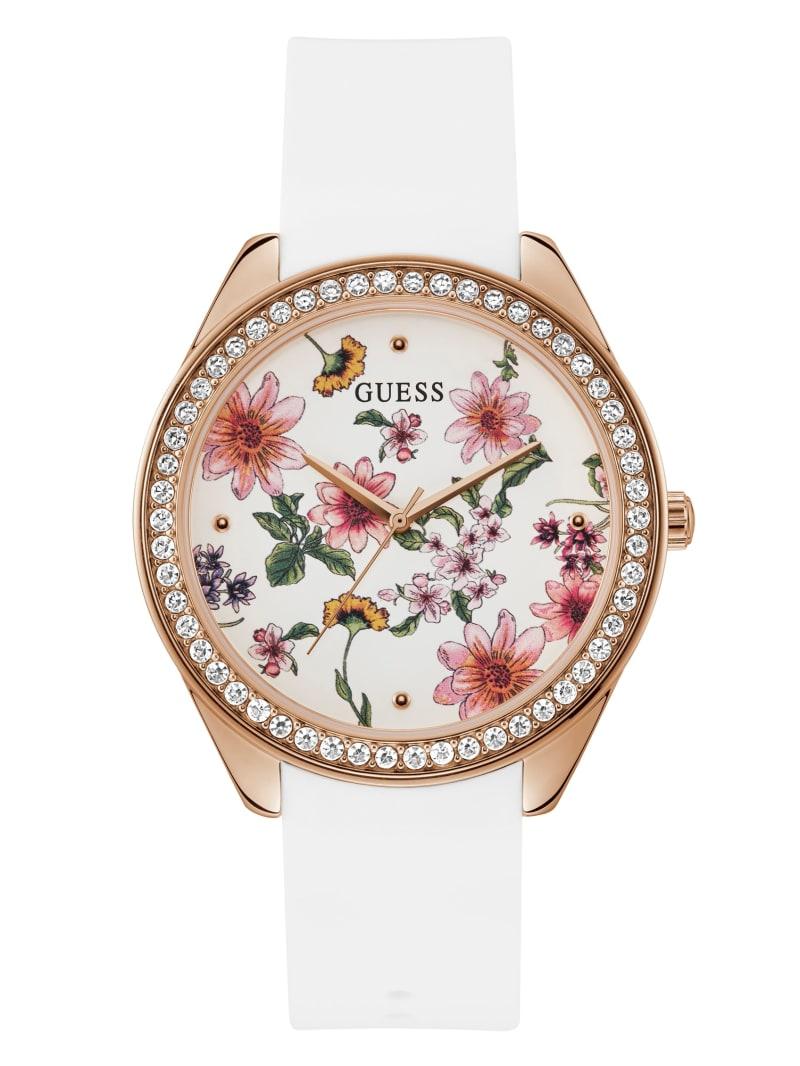 Floral and Rhinestone Analog Watch